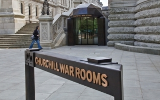 Entrance to Westminster's underground Cabinet War Rooms © The Imperial War Museum